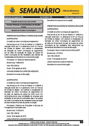 Semanário Oficial - Ed. 408