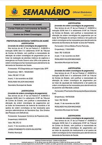 Semanário Oficial - Ed. 790
