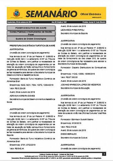 Semanário Oficial - Ed. 457