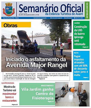 Semanário Oficial - Ed. 726