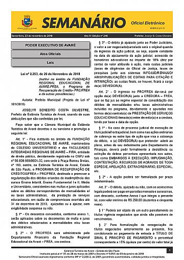 Semanário Oficial - Ed. 246