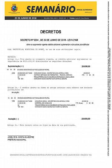 Semanário Oficial - Ed. 164