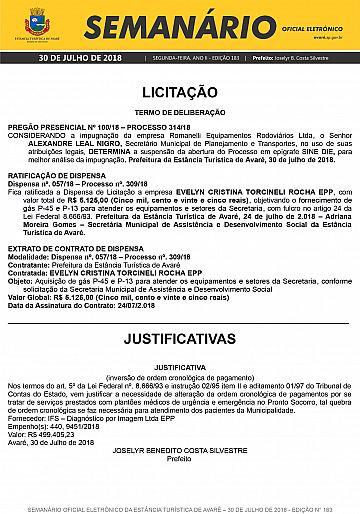 Semanário Oficial - Ed. 183