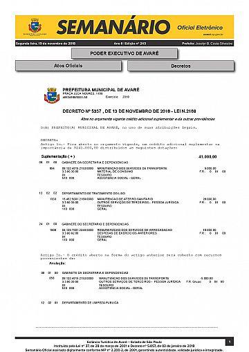 Semanário Oficial - Ed. 243
