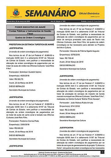Semanário Oficial - Ed. 305