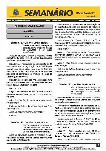 Semanário Oficial - Ed. 540