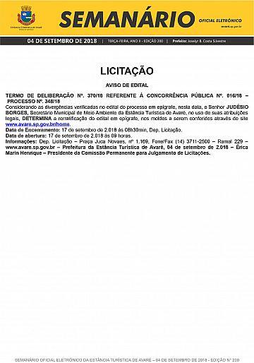 Semanário Oficial - Ed. 200