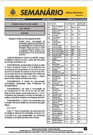 Semanário Oficial - Ed. 417