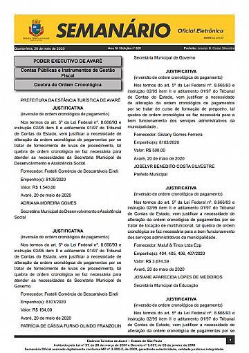 Semanário Oficial - Ed. 631