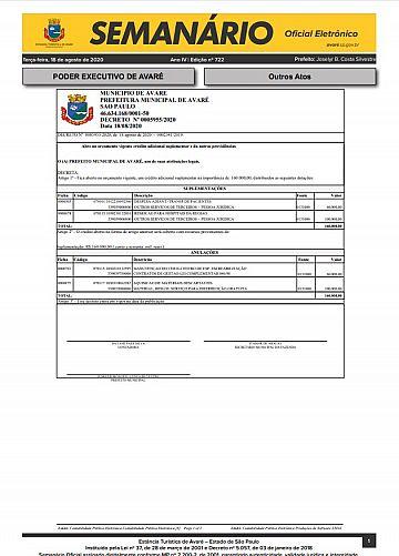 Semanário Oficial - Ed. 722