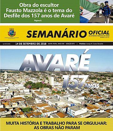 Semanário Oficial - Ed. 875