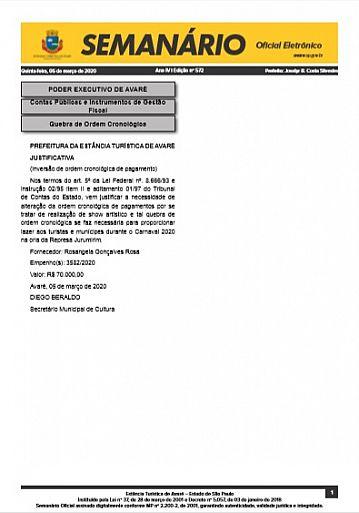 Semanário Oficial - Ed. 572