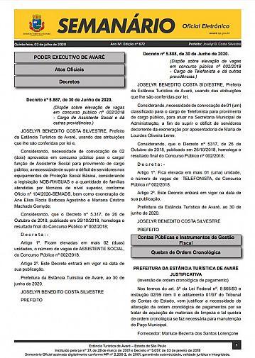 Semanário Oficial - Ed. 672