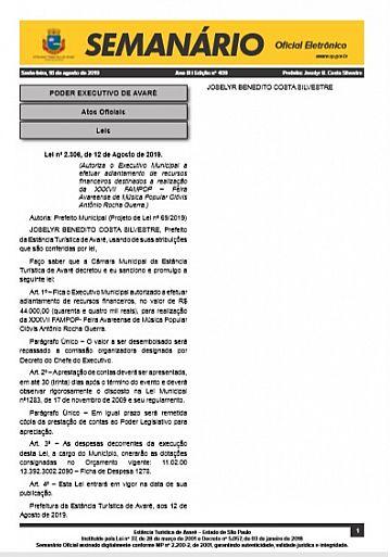 Semanário Oficial - Ed. 409