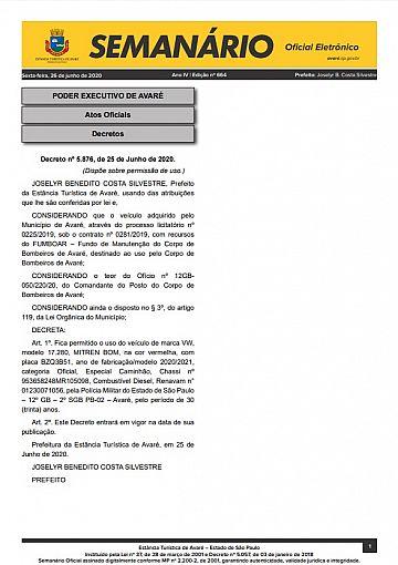Semanário Oficial - Ed. 664