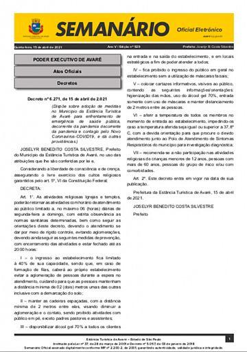 Semanário Oficial - Ed. 929