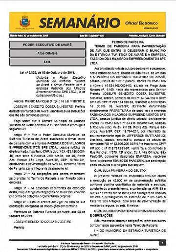 Semanário Oficial - Ed. 458