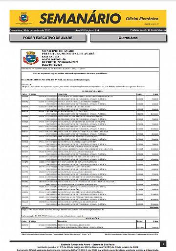 Semanário Oficial - Ed. 814