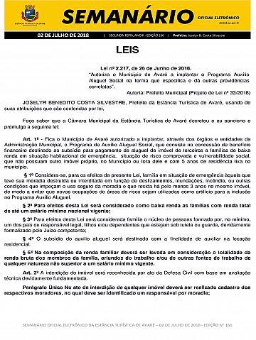 Semanário Oficial - Ed. 166