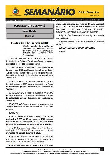 Semanário Oficial - Ed. 651