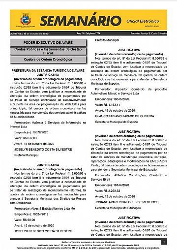 Semanário Oficial - Ed. 774