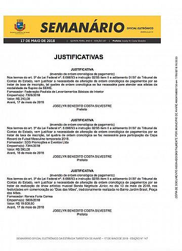 Semanário Oficial - Ed. 147