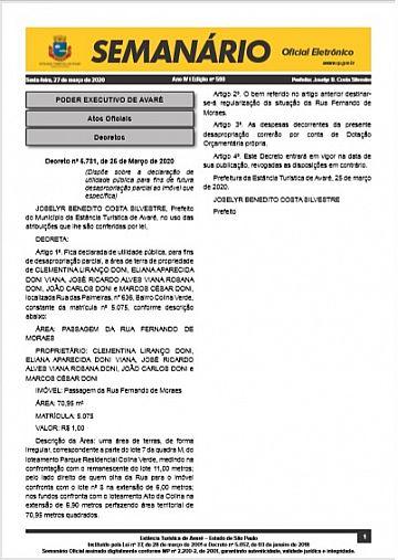 Semanário Oficial - Ed. 593