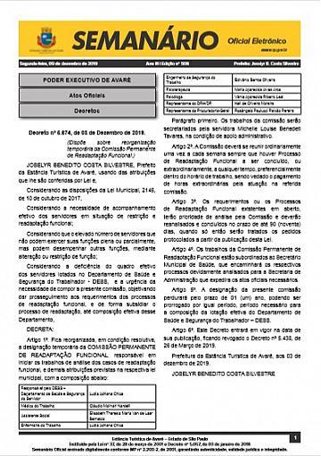 Semanário Oficial - Ed. 508