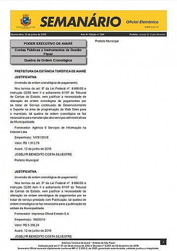 Semanário Oficial - Ed. 364