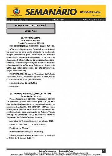 Semanário Oficial - Ed. 694