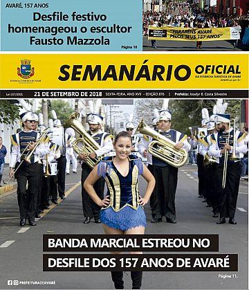 Semanário Oficial - Ed. 876