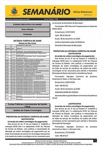 Semanário Oficial - Ed. 812
