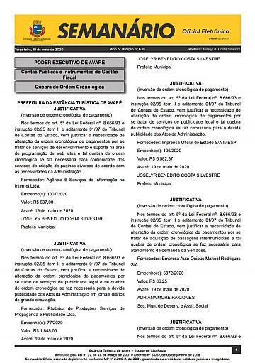 Semanário Oficial - Ed. 630