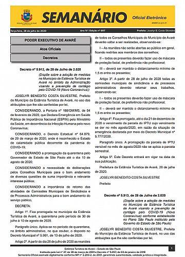 Semanário Oficial - Ed. 697