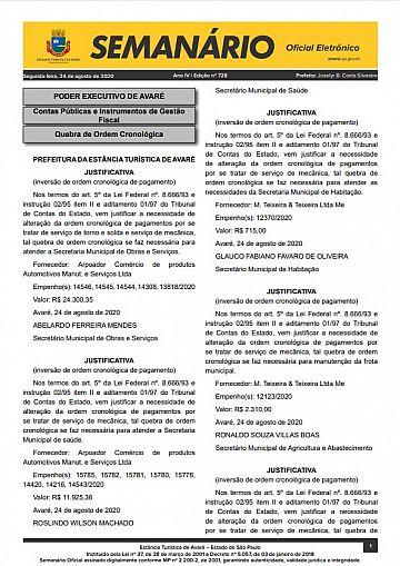 Semanário Oficial - Ed. 728