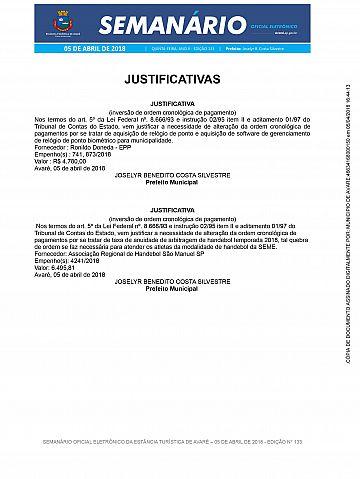 Semanário Oficial - Ed. 133
