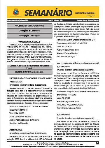 Semanário Oficial - Ed. 358