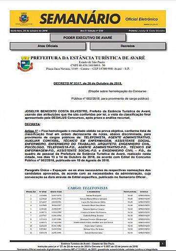 Semanário Oficial - Ed. 233
