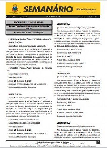 Semanário Oficial - Ed. 589