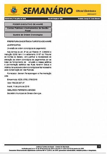 Semanário Oficial - Ed. 383