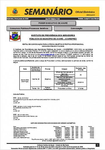 Semanário Oficial - Ed. 542