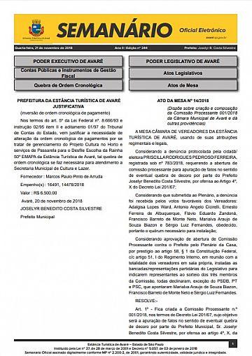 Semanário Oficial - Ed. 244