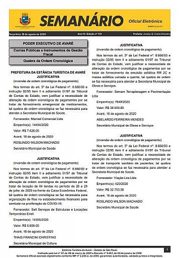 Semanário Oficial - Ed. 721