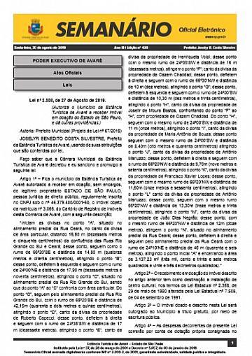 Semanário Oficial - Ed. 420