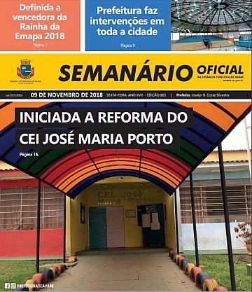Semanário Oficial - Ed. 883