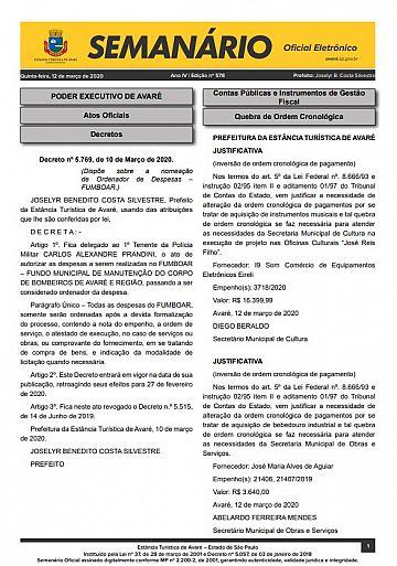 Semanário Oficial - Ed. 578