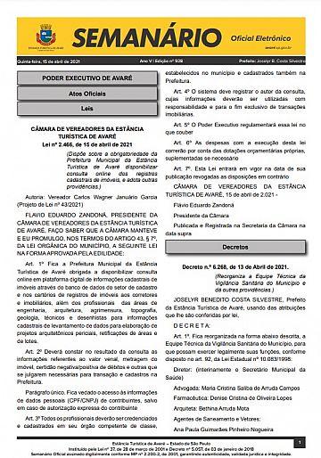 Semanário Oficial - Ed. 928