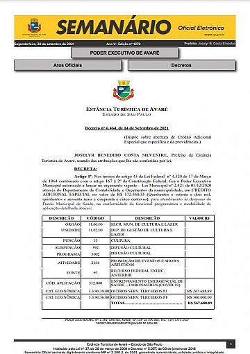 Semanário Oficial - Ed. 1070