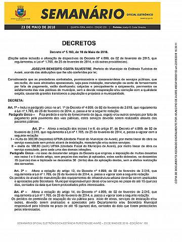 Semanário Oficial - Ed. 150