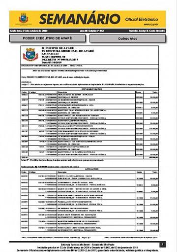 Semanário Oficial - Ed. 453